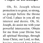 St Joseph Bookmark