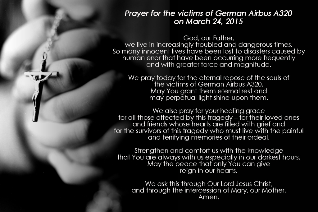 Prayer for the Victims of German Airbus A320