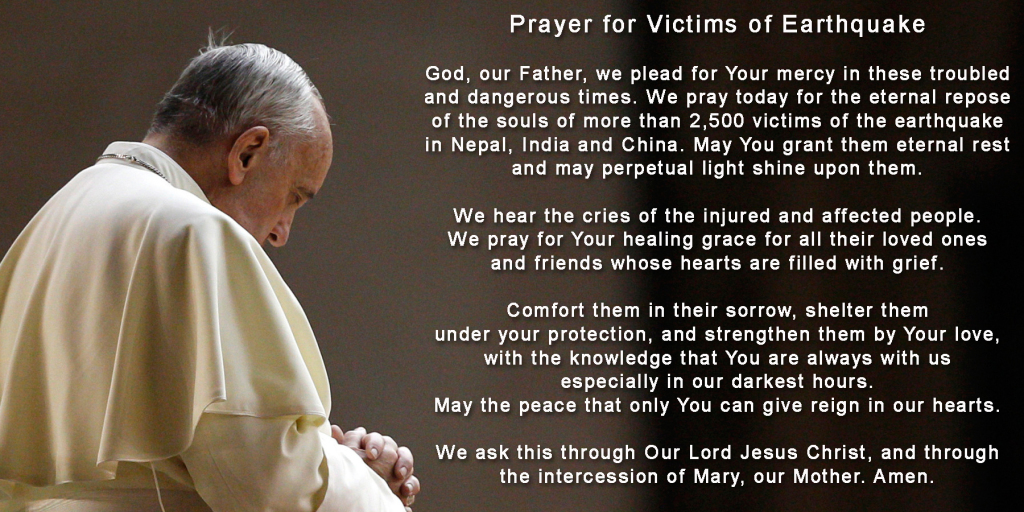 Prayer for Earthquake Victims