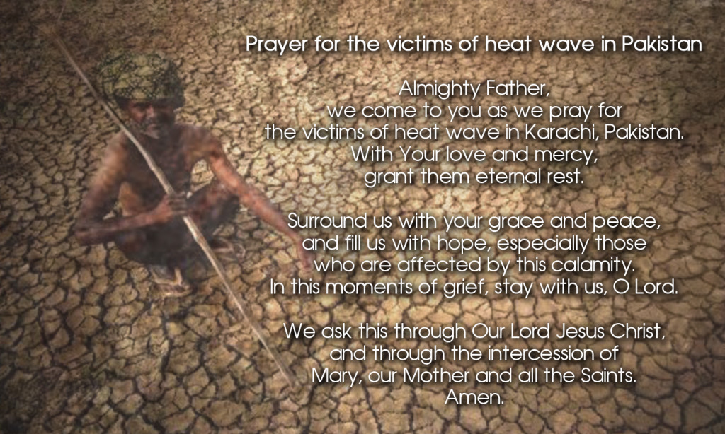 Prayer for victims of heat wave in Pakistan