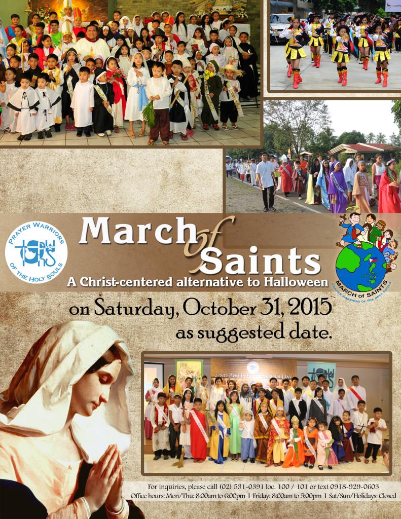 March of Saints flyer