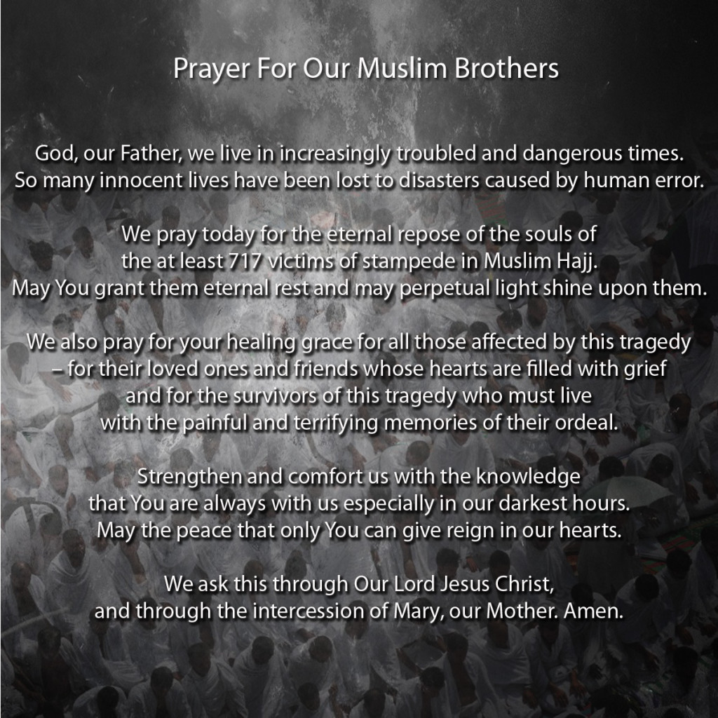 Prayer For Our Muslim Brothers