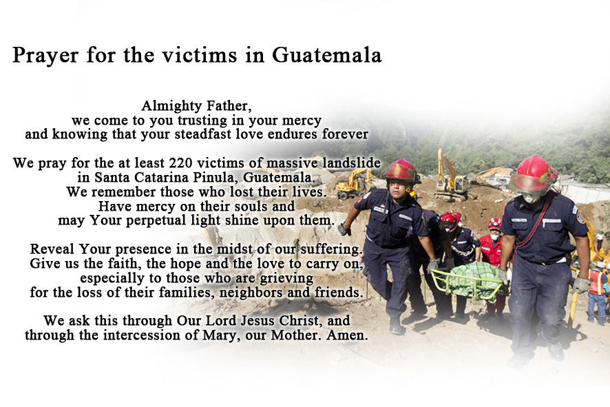 prayer for Guatemala victims
