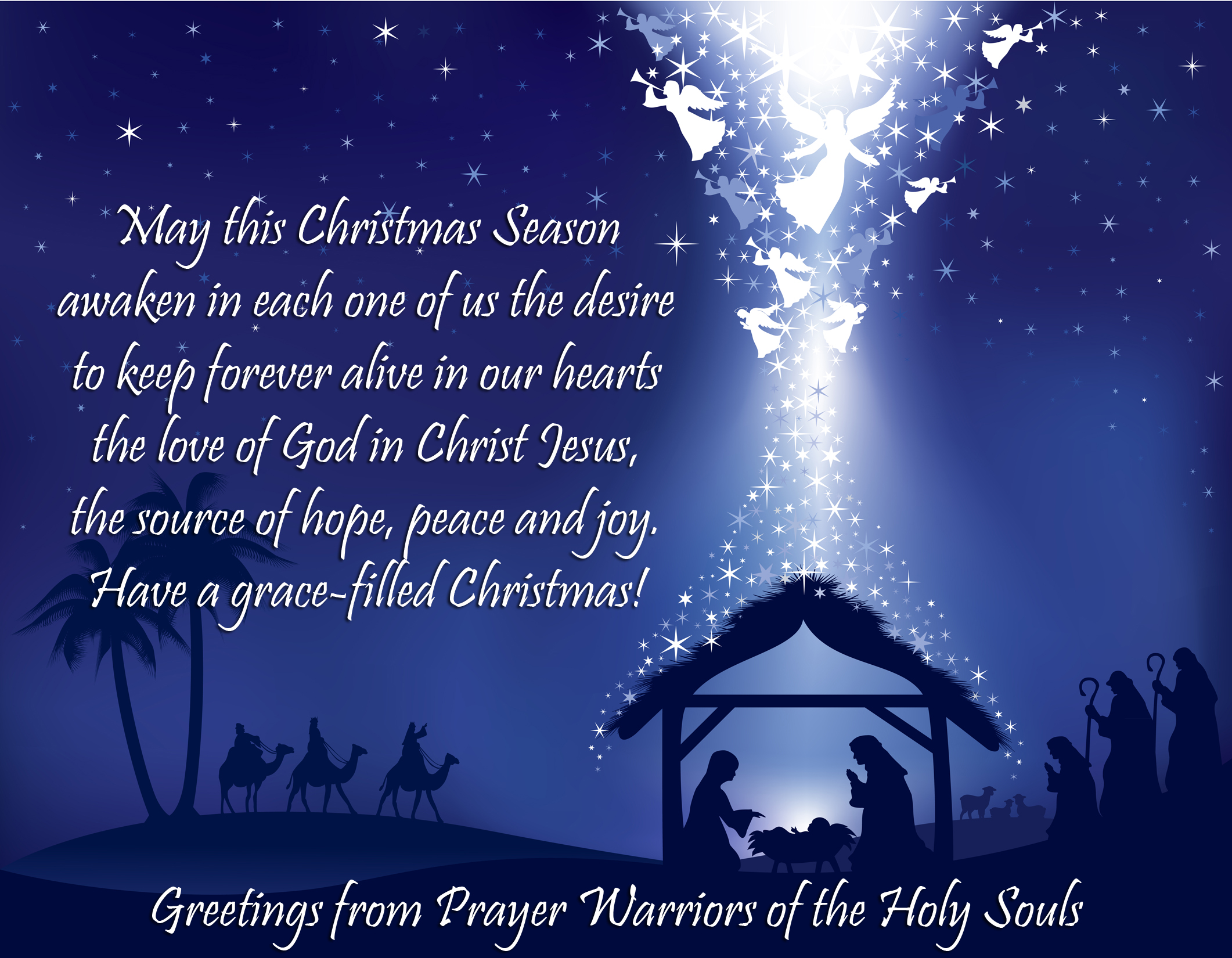Merry christmas prayer warriors of the holy souls christmas greetings 2015 m4hsunfo